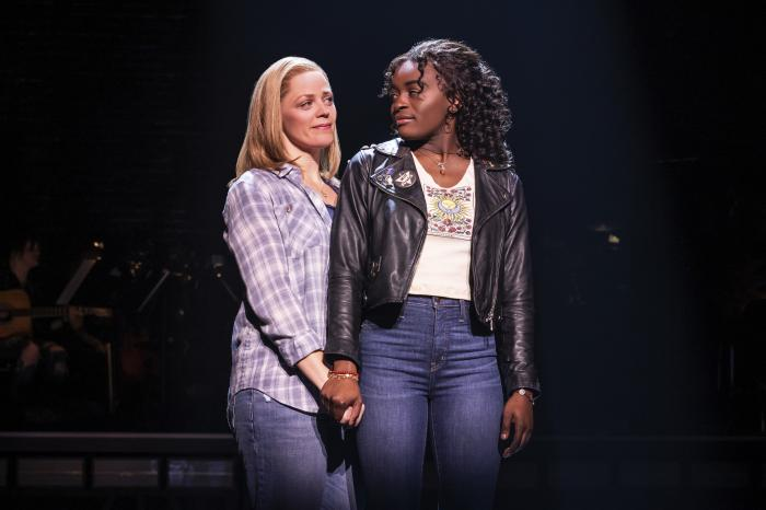 """This image released by Vivacity Media Group shows Elizabeth Stanley, left, and Celia Rose Gooding during a performance of """"Jagged Little Pill."""""""