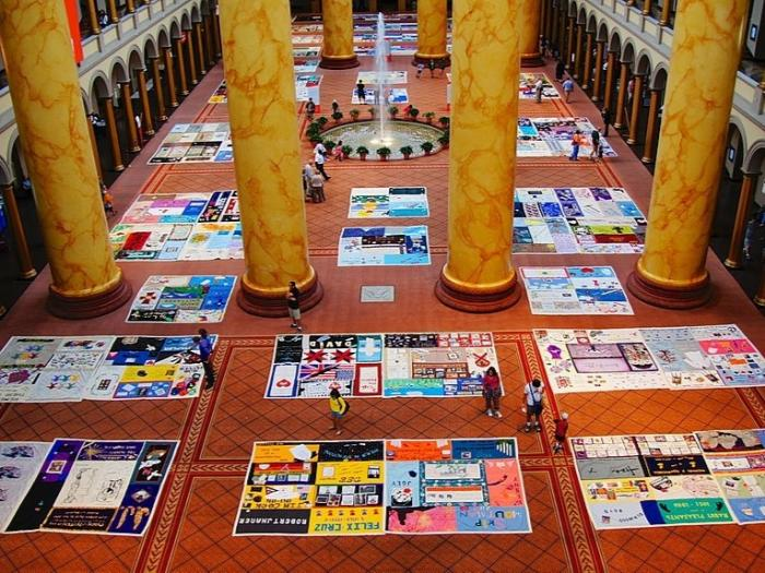 AIDS Quilt at the National Building Museum.