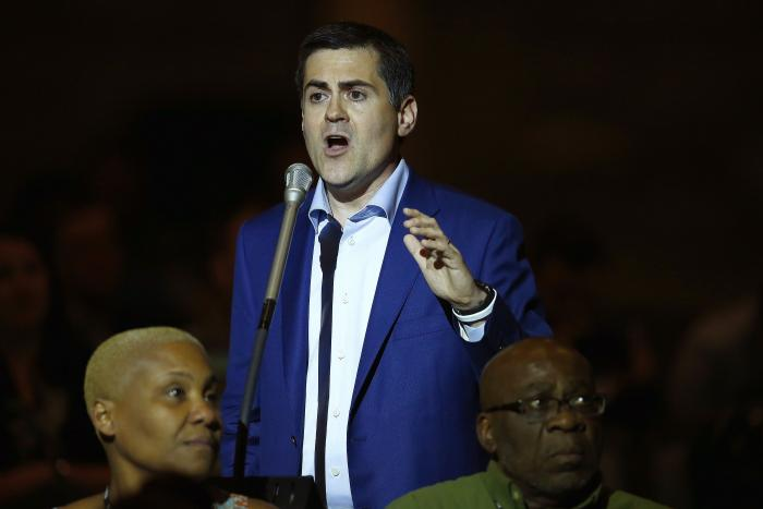 Russell Moore, president of the Ethics & Religious Liberty Commission, speaks at the Southern Baptist Convention annual meeting in Phoenix.