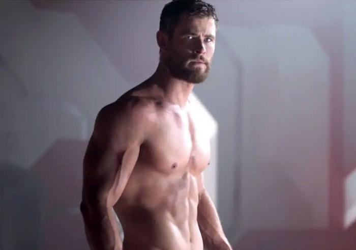 "Chris Hemsworth in a publicity still for ""Thor: Ragnarok."""
