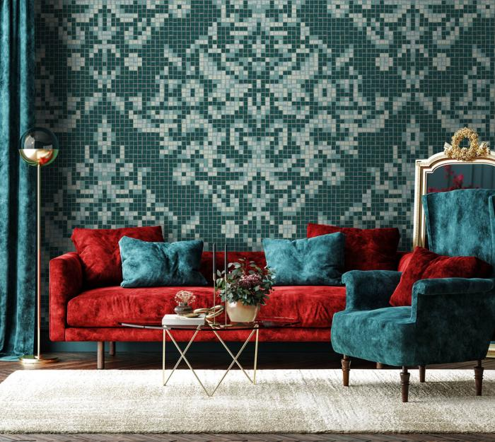 Artaic's Dramati Turquoise from the Ornamental & Damask Collection.