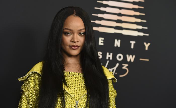 Musician and entrepreneur Rihanna attends an event for her lingerie line Savage X Fenty at the Westin Bonaventure Hotel in Los Angeles.